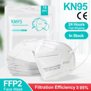 10x FFP2-Maske CE + 95% Filterwirkung