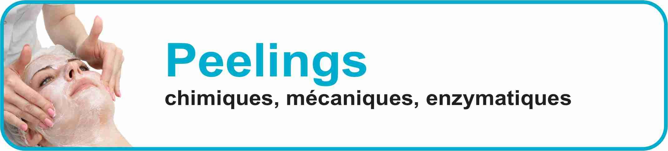 Peelings chimiques, mécaniques, enzymatiques